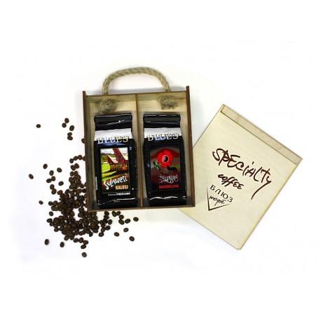 Кофе в зёрнах Индонезия СУЛАВЕСИ КАЛОСИ / СУМАТРА МАНДЕЛИНГ, подарочный, 400 г