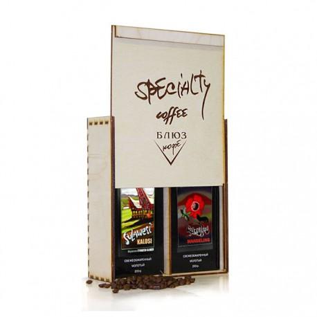 Кофе молотый Индонезия СУЛАВЕСИ КАЛОСИ / СУМАТРА МАНДЕЛИНГ, подарочный, 400 г