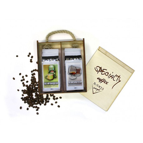 Ароматизированный кофе в зёрнах ПО-ИРЛАНДСКИ / ПО-ФРАНЦУЗСКИ, подарочный, 400 г