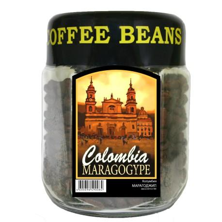 Кофе в зёрнах Колумбия МАРАГОДЖИП, 150 г