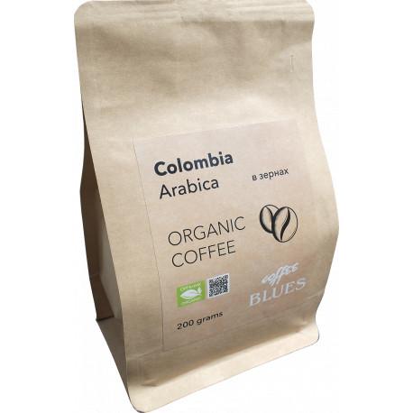Органический кофе в зёрнах Колумбия крафт, 200 г