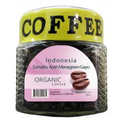 Органический кофе в зёрнах Индонезия СУМАТРА АЧЕХ МЕНАГРИН ГАЙО, 150 г