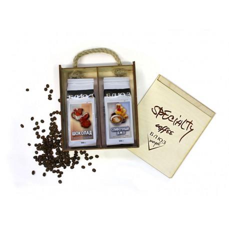 Ароматизированный кофе в зёрнах ШОКОЛАД / СЛИВОЧНЫЙ ДЖО, подарочный, 400 г
